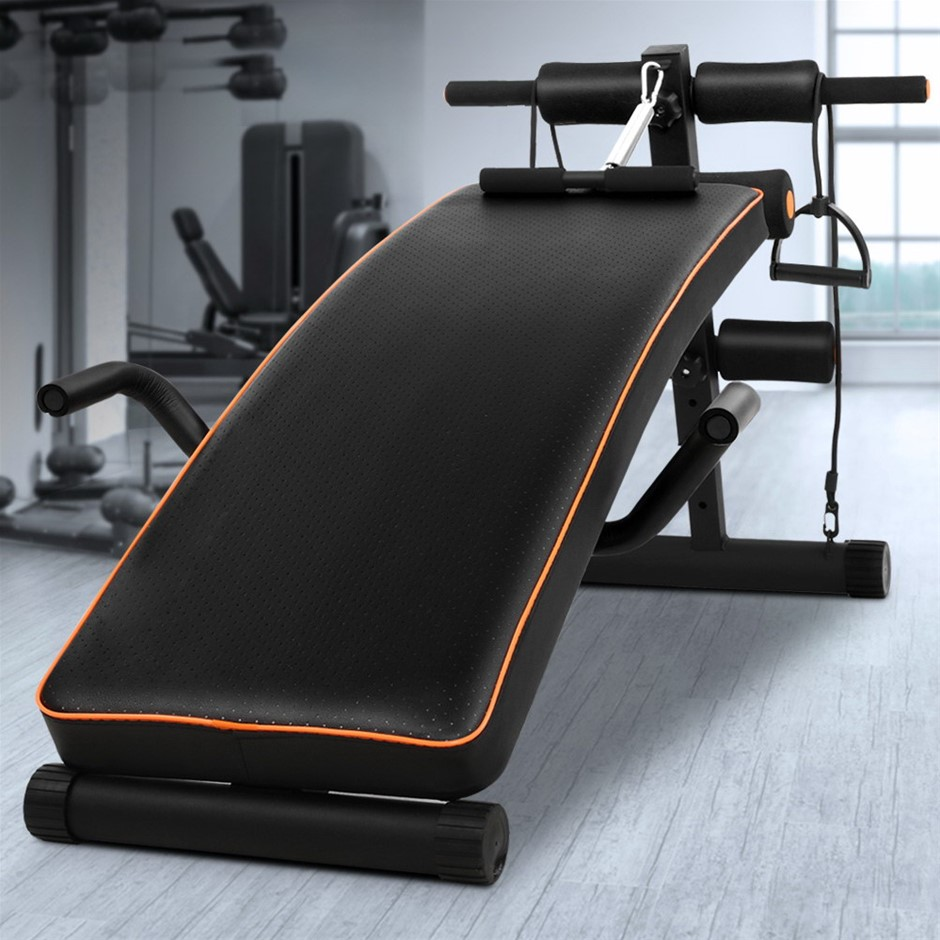Adjustable Sit Up Weight Bench 05 Weights Fitness Exercise Steel Frame