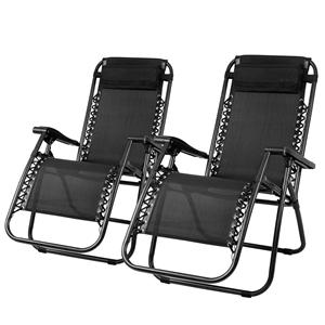 Gardeon Zero Gravity Chairs 2PC Reclinin