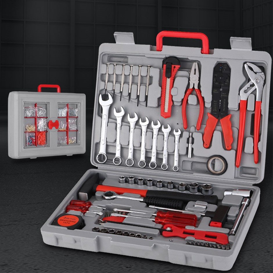 555pcs Tool Kit Set Case Mechanics Box Kits Toolbox Portable DIY