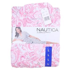 NAUTICA Women`s 2pc Button-up Front Capr