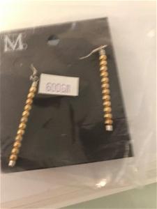Pair of Drop Ball Earrings RRP$55