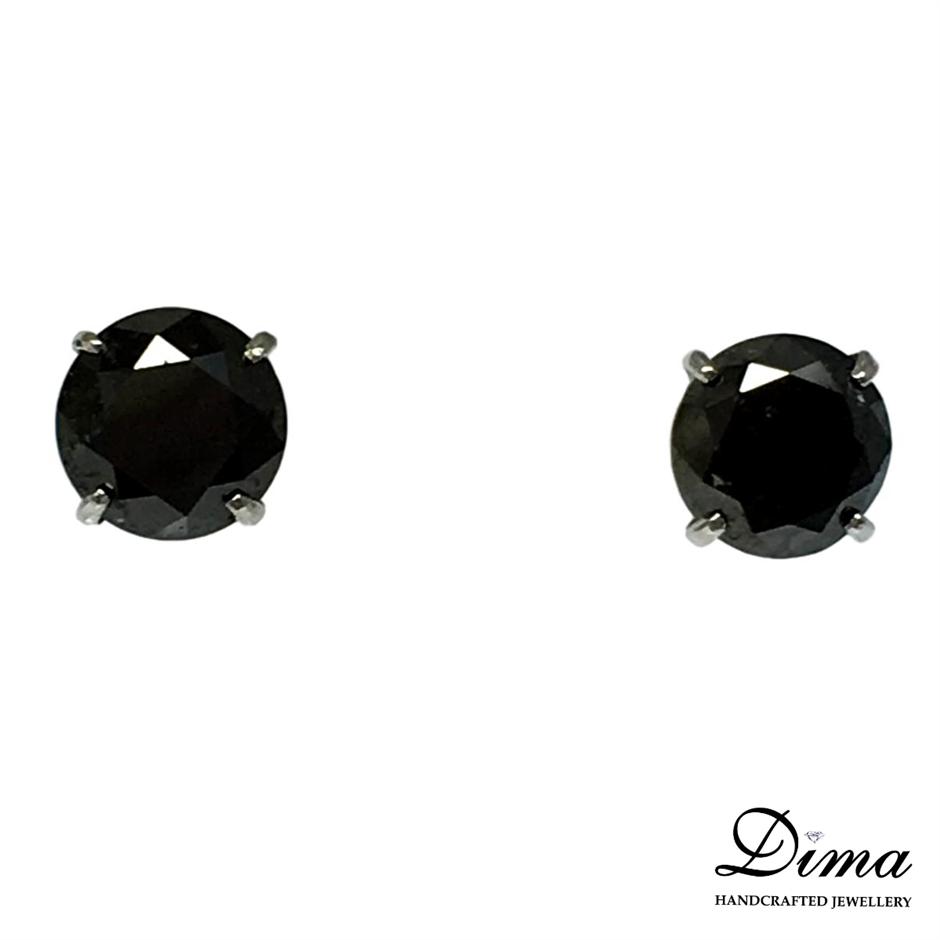 18ct White Gold, 5.30ct Diamond Earring