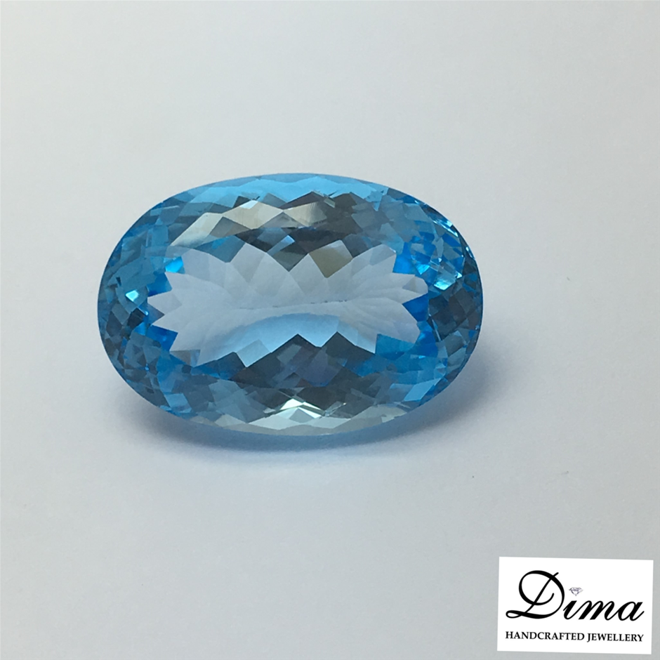One Loose Blue Topaz, 61.20ct in Total