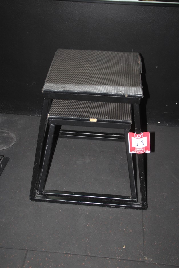2x Assorted Jumper Stand & Plyo box