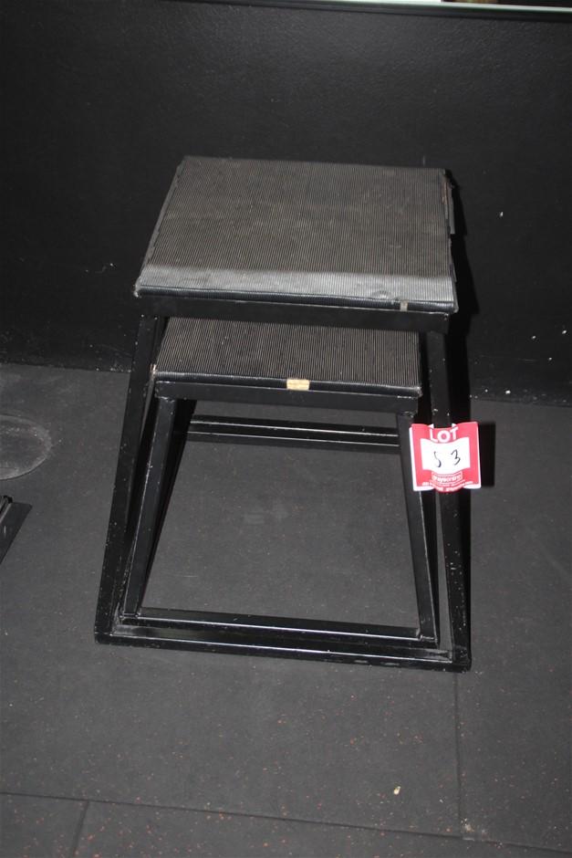 2x Assorted Jumper Stand & Plyo box