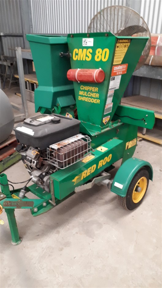 2004 Red Roo CMS 80 Trailer Mounted Mulcher/Chipper (Port Lincoln, SA)