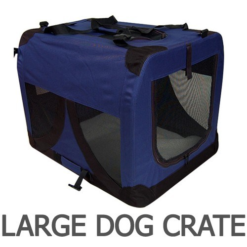 i.Pet Large Portable Soft Pet Carrier- Blue
