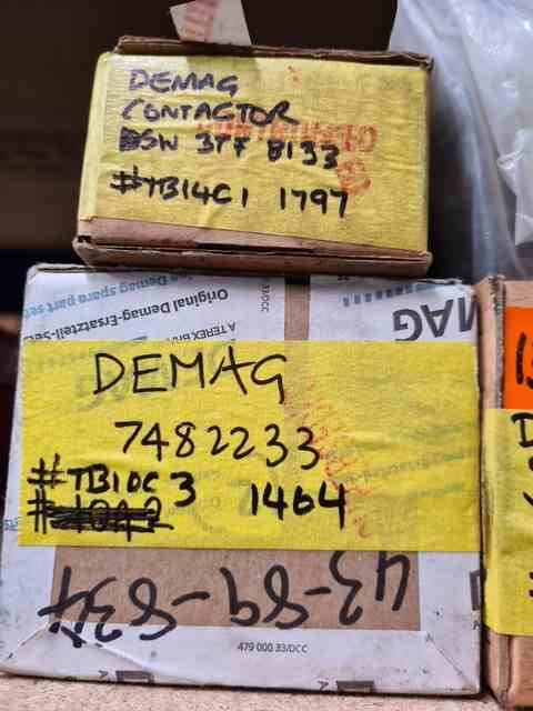 Demag - Various Demag Brand New Spare Parts x 6