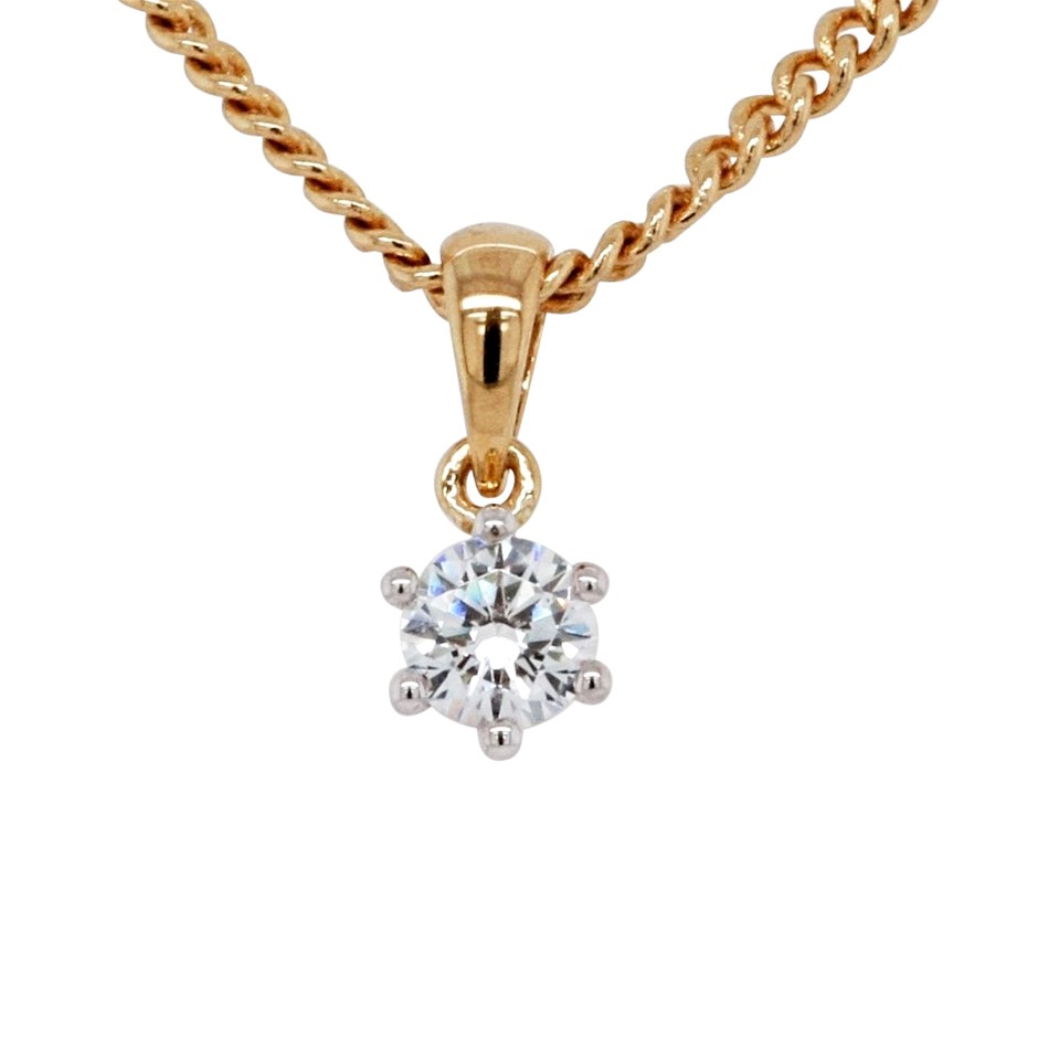 Ladies CZ & Gold Vermeil Pendant