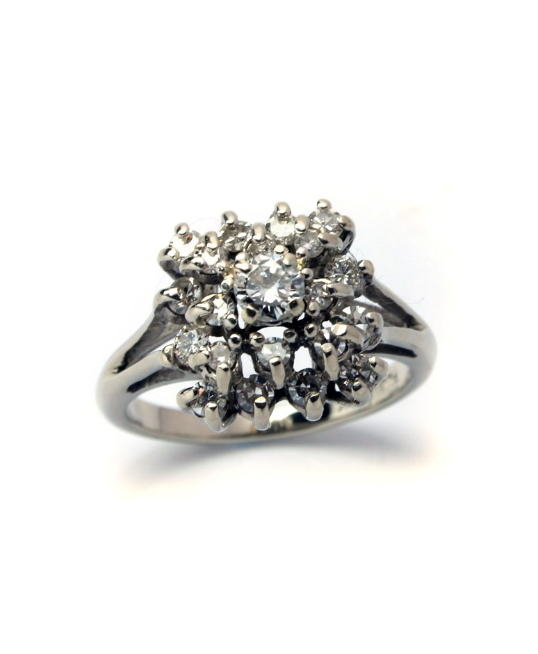 14ct White Gold, 0.90ct Diamond Ring