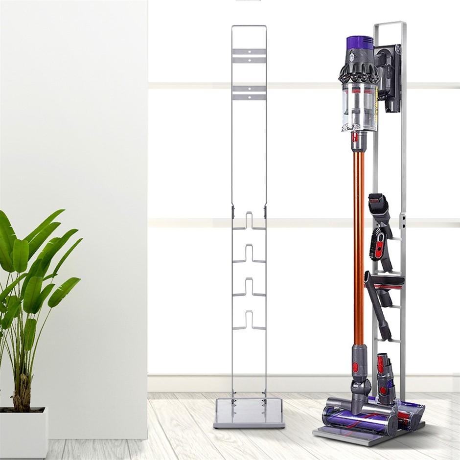 Freestanding Vacuum Stand Rack Holder Cordless Handheld Cleaner Silver