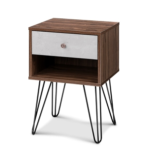 Artiss Bedside Table with Drawer - White