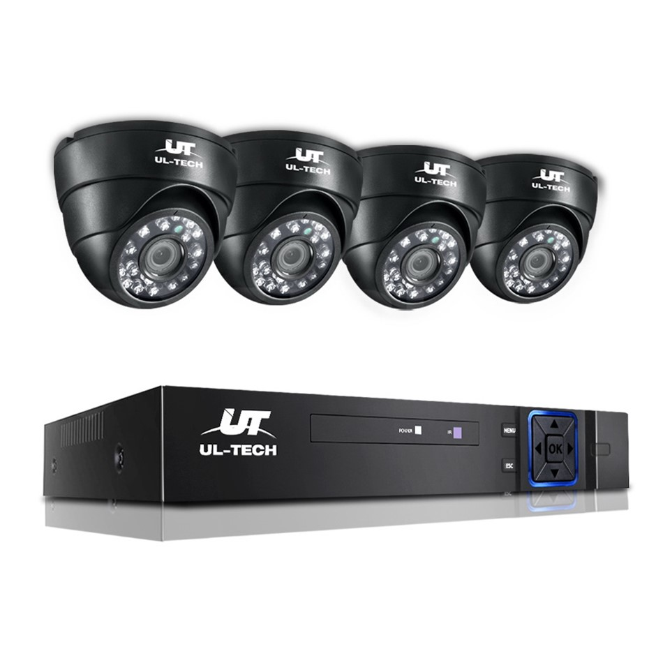 ULtech CCTV Security Camera Home System DVR 1080P IP Long Range 4 Dome