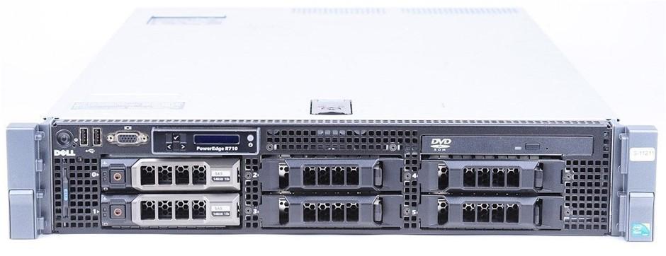 DELL R710 SERVER, 2x X5550, 72GB, 6 TB