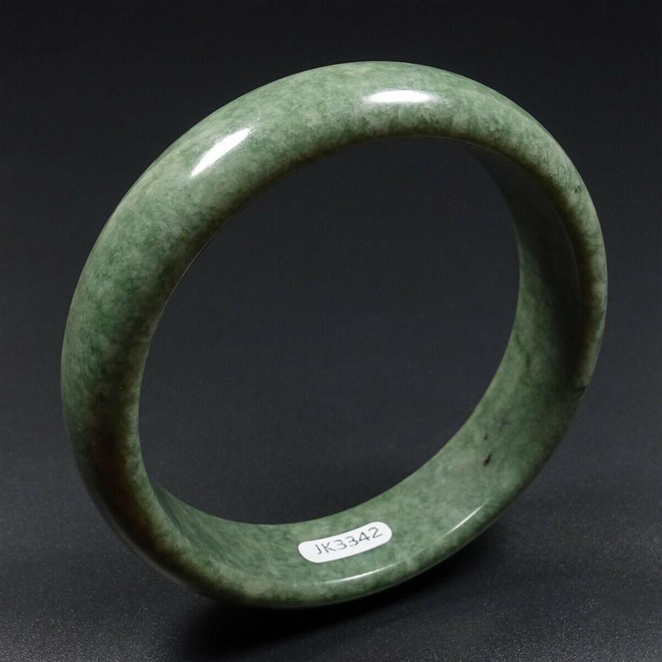 64mm Chinese 100% Natural Green Jade Bracelet Bangle