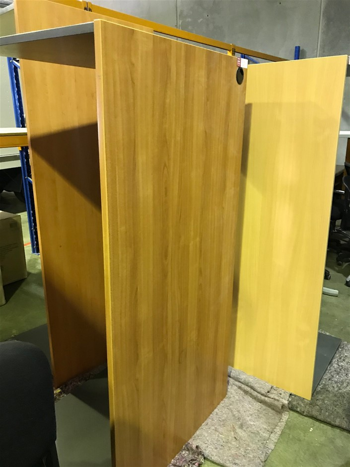 Qty of 3 x Office Desks - Pine Veneer - No Drawers