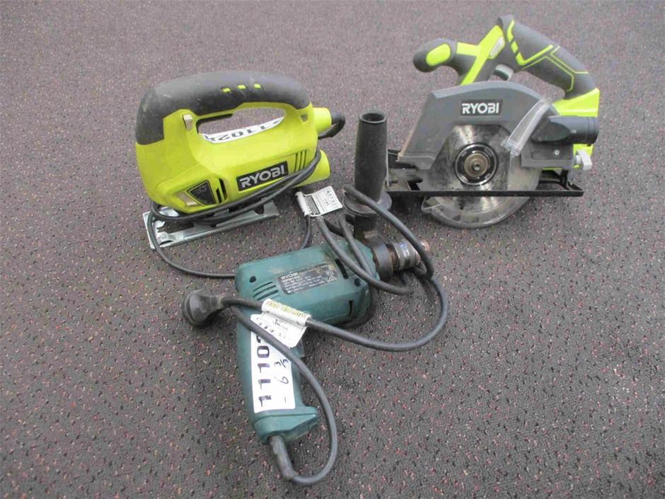 Qty 3 x Ryobi Power Tools