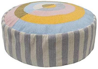 BAMBURY Spectrum Floor Cushion, Sorbet. 100% Cotton. Diameter 43cm. Buyers