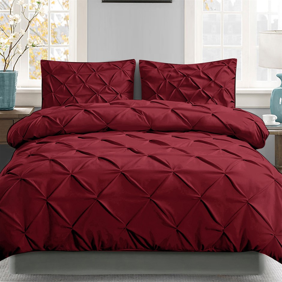 Giselle Luxury Classic Bed Duvet Doona Quilt Cover Set Hotel Queen