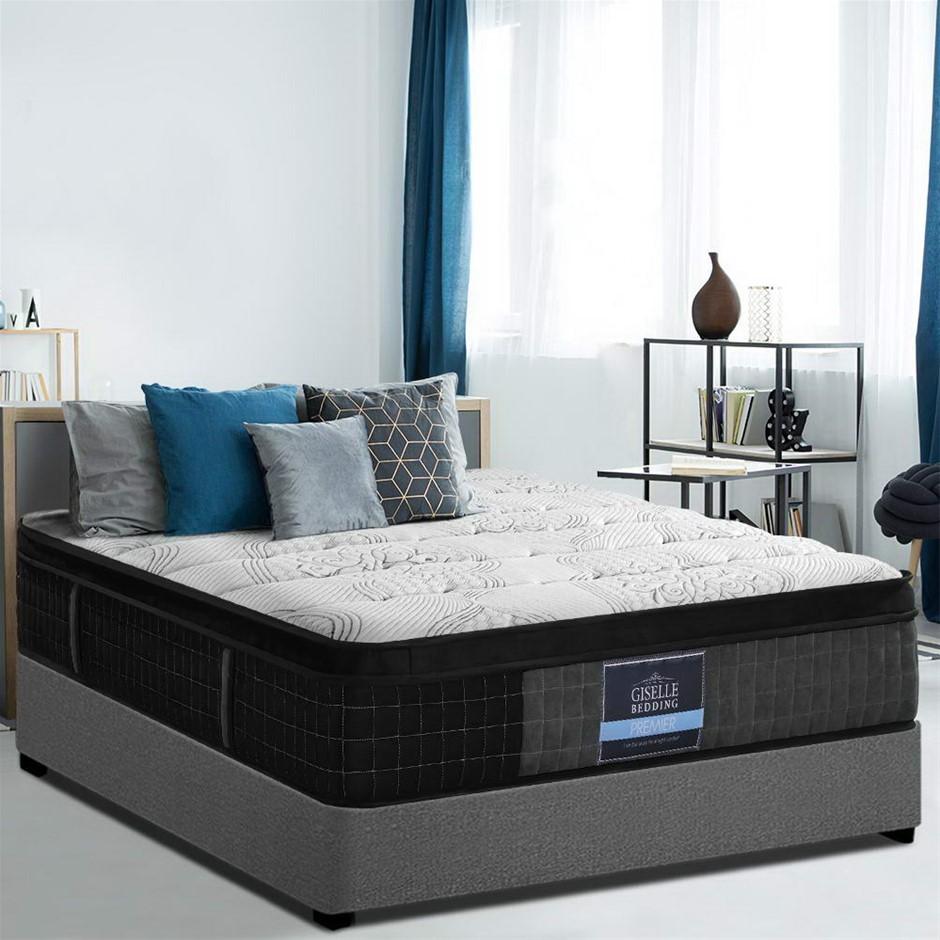 Giselle Bedding King Bed Mattress 7 Zone Pocket Spring Cool Gel Medium 30cm