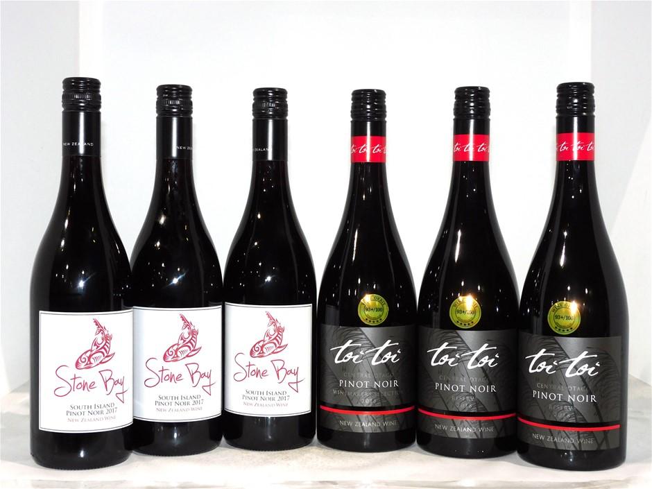 Pack of Assorted New Zeland Pinot Noir (6 x 750mL)