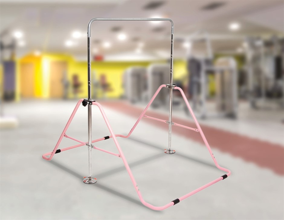 Kids Gymnastics Bars Training Horizontal Bar Monkey Kip Bar Pink
