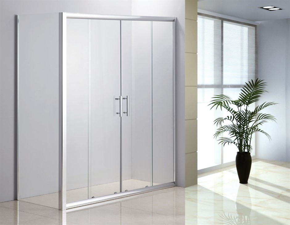 1700 X 700 Sliding Door Safety Glass Shower Screen By Della Francesca