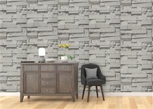 Wallpaper Brick Pattern 3D Textured Non-
