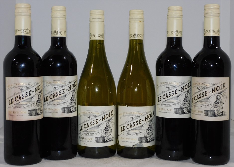 Pack of Assorted Le Casse-Noix Wine (6 x 750mL), France. Screwcap
