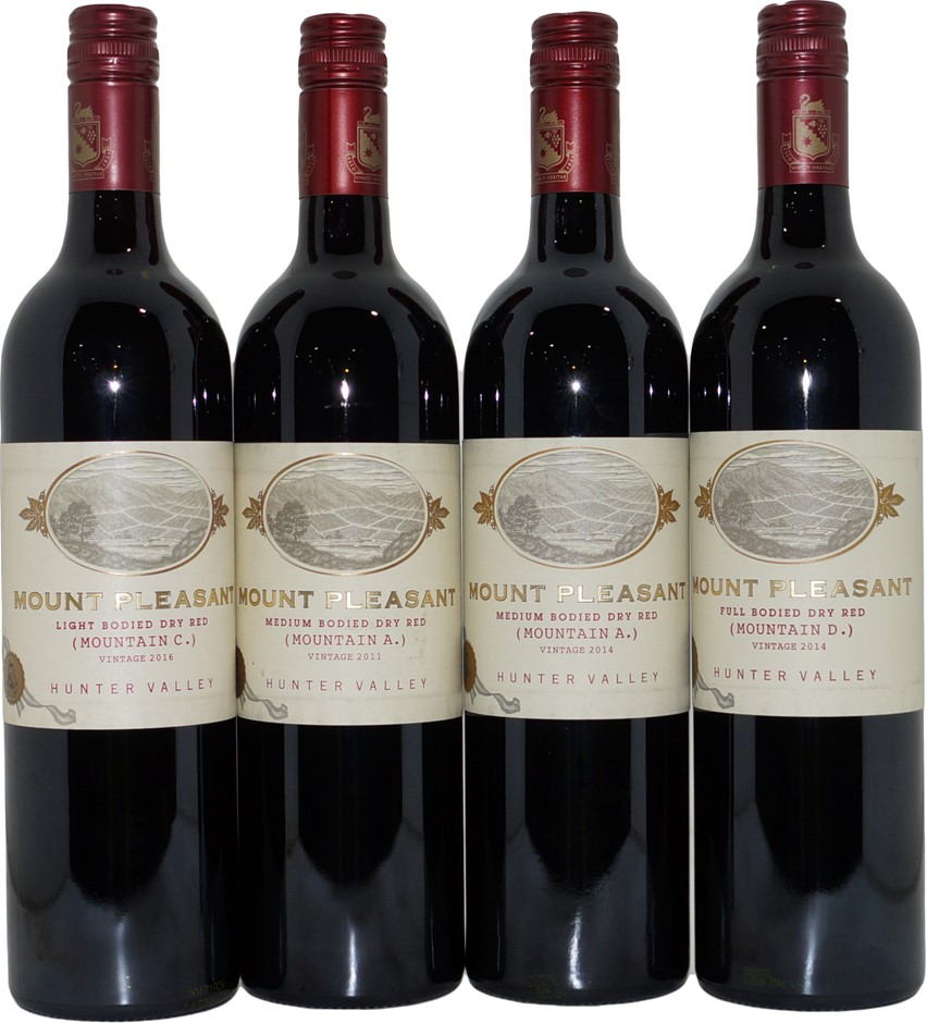 Mount Pleasant Mountain Mixed Dry Red Wine (4x 750mL), Hunter Valley