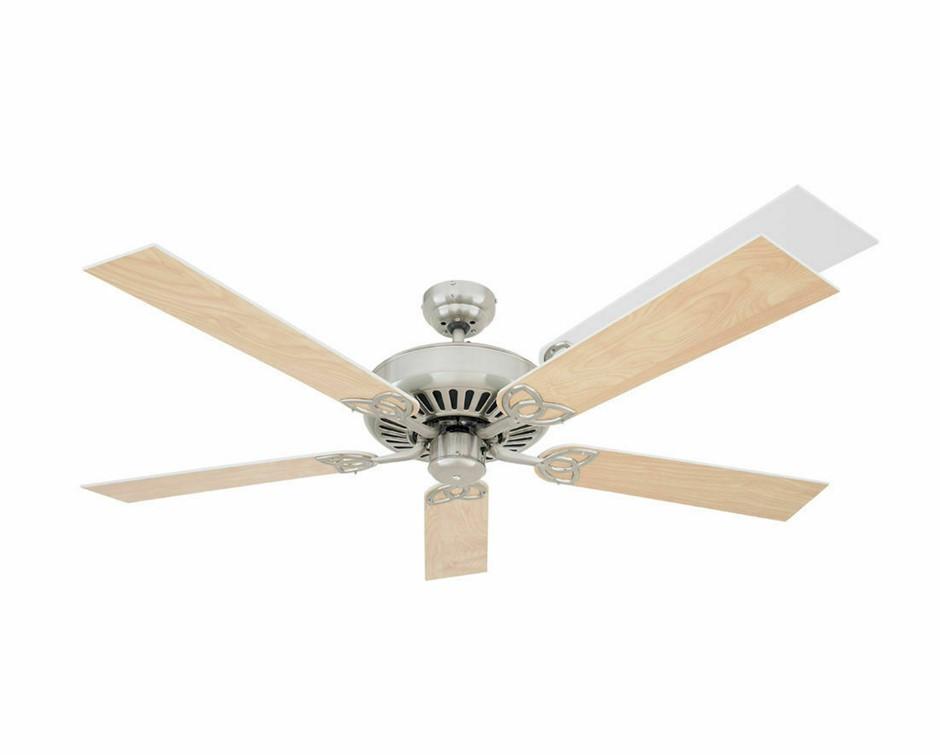 Heller Reversible Ceiling Fan 1300mm 5 Blade White Washed Oak Shelby