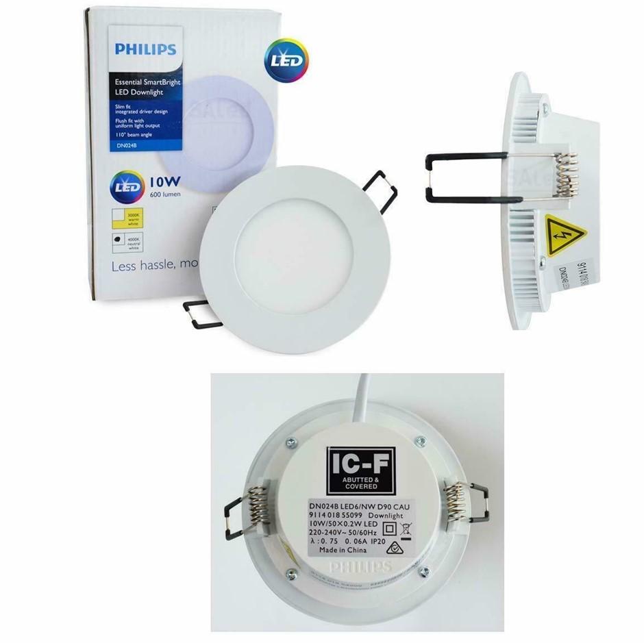 Box of 10pcs Philips LED Essential SmartBright Downlight Kit 10W 3000K