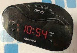 4 x Yokohama AM/FM Alarm Clock Radios (C
