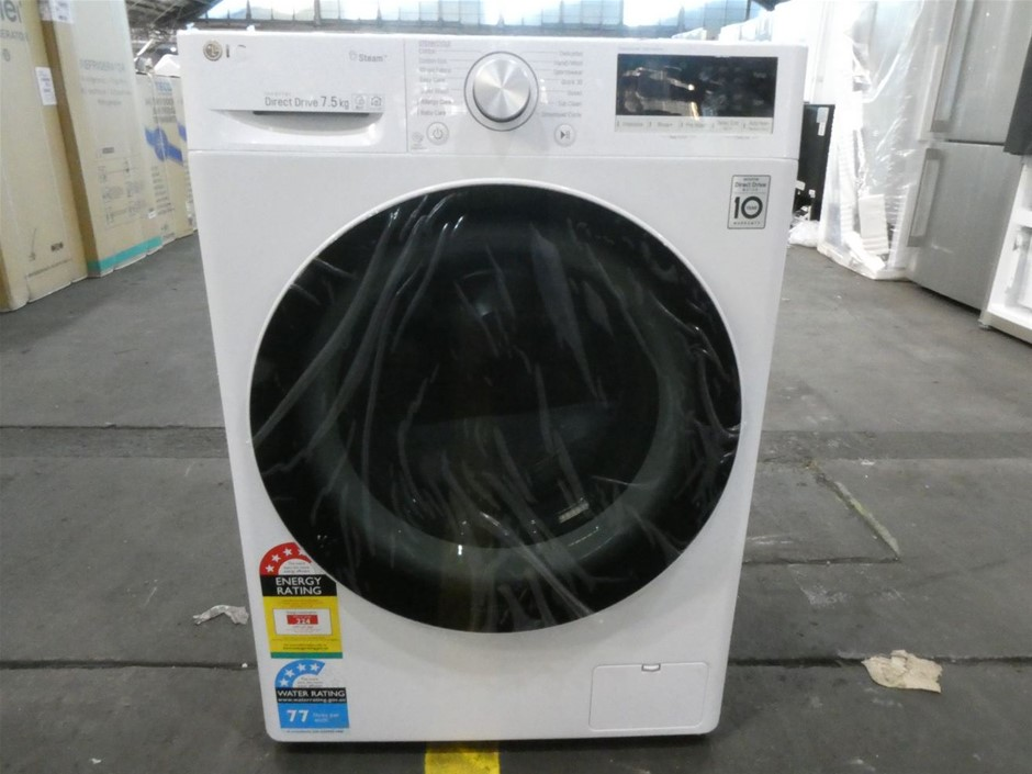 LG 7.5kg Front Load Washing Machine with Steam (WV5-1275W)