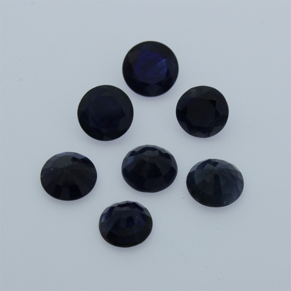 Seven Loose Blue Sapphire 7.90ct in Total