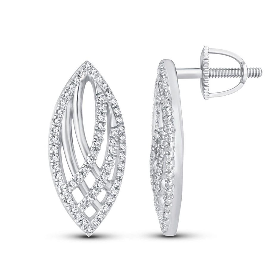 9ct White Gold, 0.25ct Diamond Earring