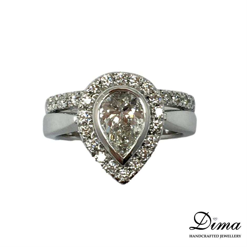 18ct White Gold, 1.75ct Diamond Engagement Ring