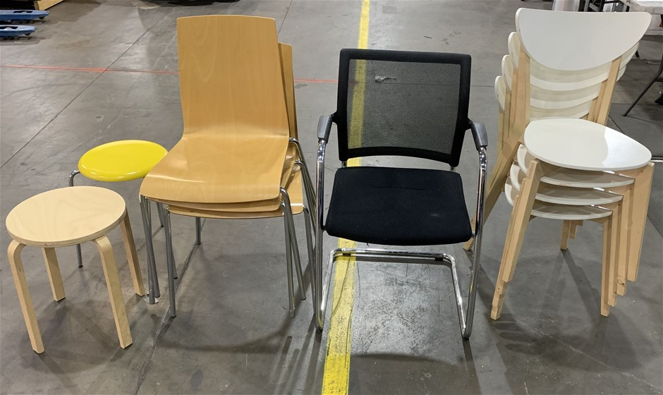 Qty 10 x Assorted Chairs & Stools