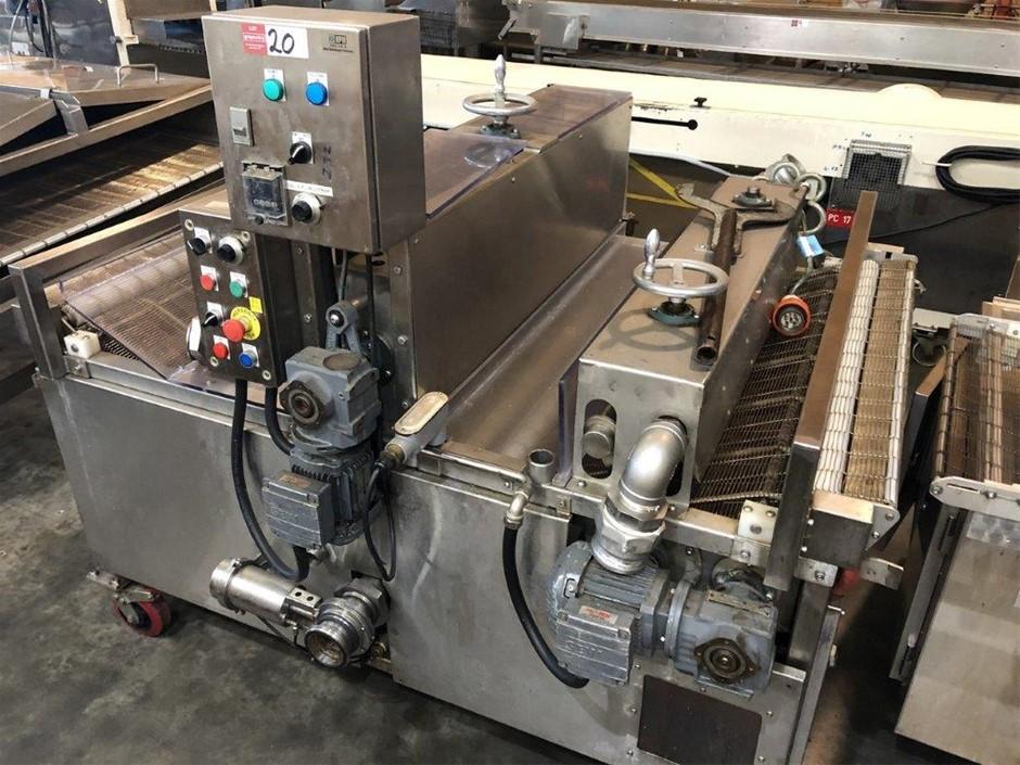 Stainless Steel Mobile Dip Conveyor Enrober