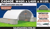 Unused 2020 Container Shelters  - Darwin