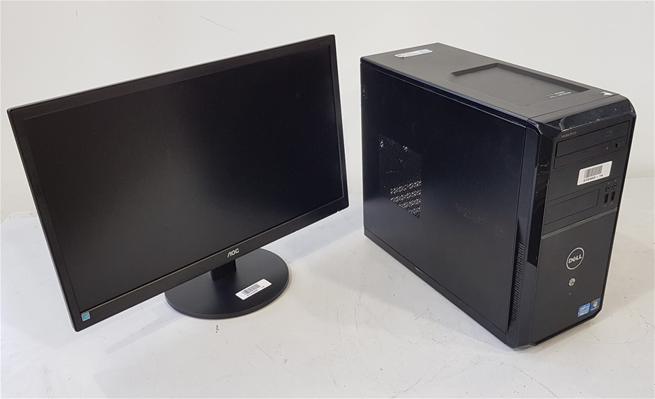 Dell Vostro 260 Mini Tower Desktop Pc With 23.6-Inch AOC Monitor