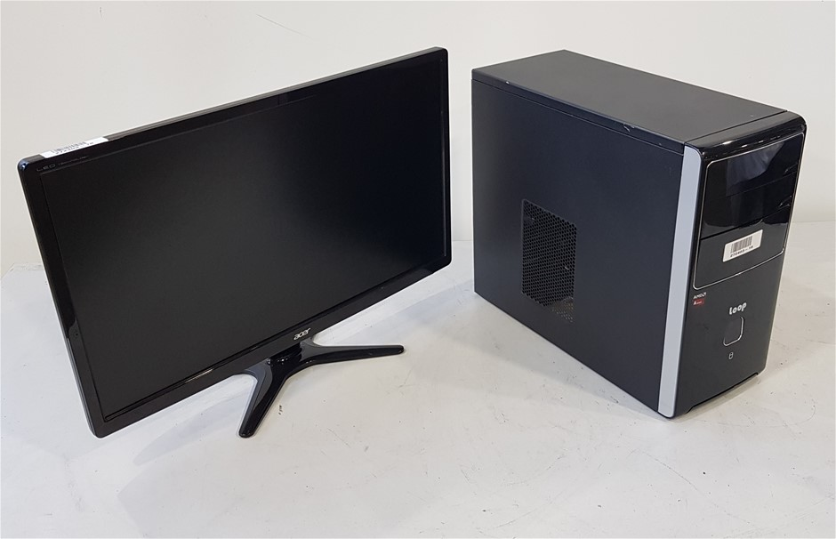 Loop Clone Mini Tower Desktop Pc with Acer 24-Inch Monitor