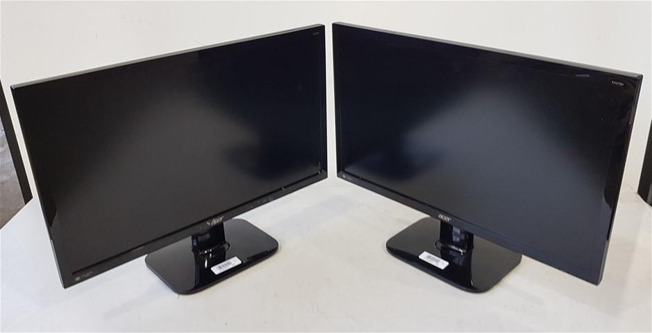 Qty 2 x Acer KA270H 27 Inch Full HD IPS LED Monitor