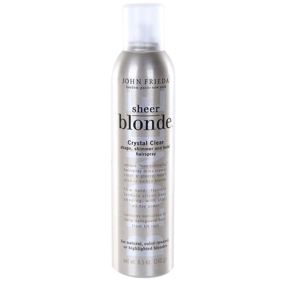 4 x JOHN FRIEDA Sheer Blonde Crystal Clear Hairsprays 240g for Natural, Col
