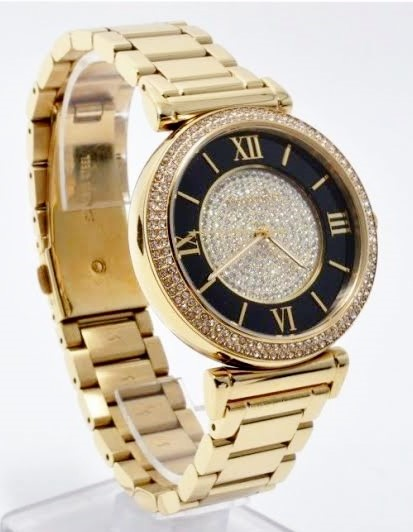 New Michael Kors gold plated very glamorous ladies watch
