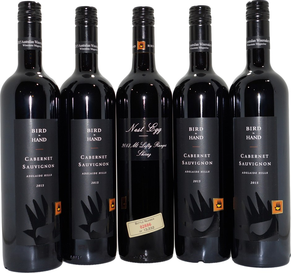 Mixed Pack of Bird In Hand Red Wine (5x 750mL), SA. Screwcap