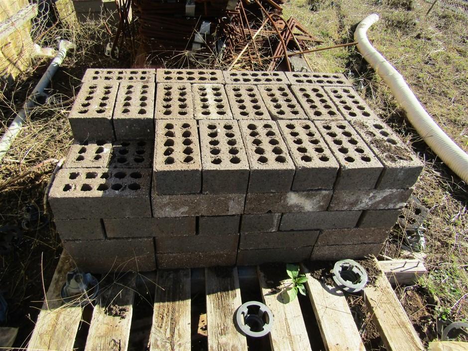 Partial pallet of Dark bricks