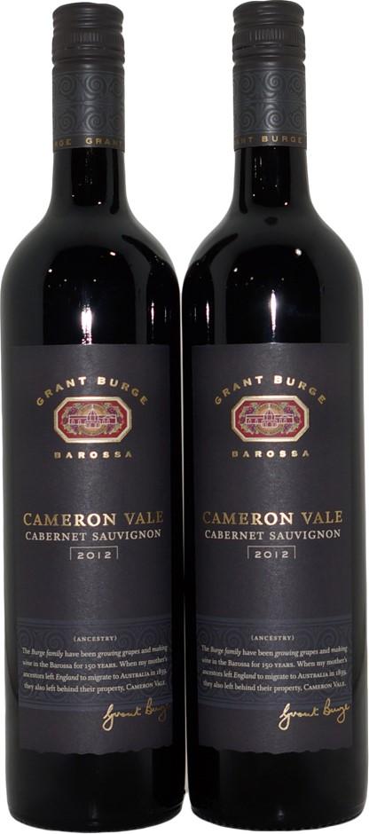 Grant Burge Cameron Vale Cabernet Sauvignon 2012 (2x 750mL), SA, Screwcap.