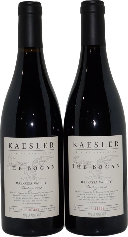 Kaesler The Bogan Shiraz 2012 (2x 750mL), Barossa Valley, SA, Cork.