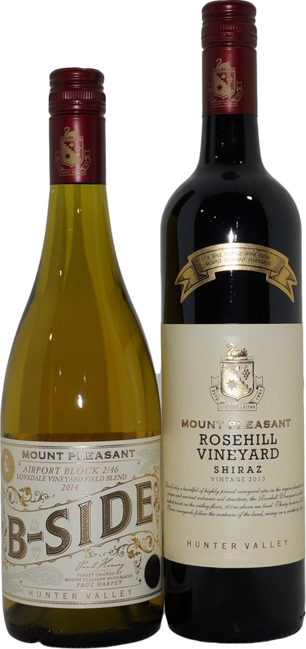 Mixed Pack of Mount Pleasant Wine (2x 750mL), Hunter Valley, Screwcap.